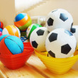 Stock Photo: Many various balls in a kindergarten
