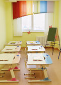 Room for drawing lessons in the kindergarten — Stock Photo