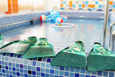 Small swimming pool for children — Stock Photo