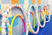 Gymnastické obruče zeď — Stock fotografie