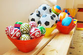 Many balls in a kindergarten — Stock Photo