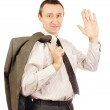 Middle-aged man is waving his hand — Stock Photo #19654121