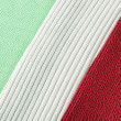 Royalty-Free Stock Photo: Knitted cloth of three colors like Italian flag