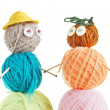 Pair Of Toys Made Of Balls Of Yarn — Stock Photo #21675643