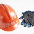Stock Photo: Helmet And Working Gloves