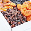 Many various dried fruits in a box — Stock Photo