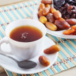 Stock Photo: Dried Fruits And Cup Of Tea