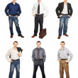 Man Wearing Diverse Clothes — Stock Photo #21949185