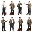 Businessman In Different Situations In Diverse Poses — Stock Photo