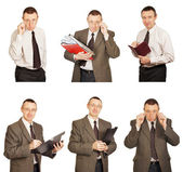 Office Clerk In Diverse Pose — Stock Photo