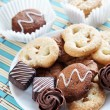 Biscuits And Candies On A Plate — Stockfoto
