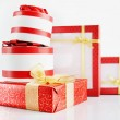 Many Beautiful Gift Boxes — Stock Photo