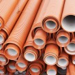 Plastic pipes for sewerage — Stock Photo