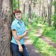 Stock Photo: Womin pine forest