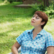 Stock Photo: Woman is having rest outdoor