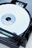 Disc inserted into dvd-drive — Stock Photo