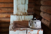 Old brick furnace in a corner — Stock Photo
