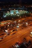 NOVOSIBIRSK, RUSSIA - NOVEMBER 3, 2013. Railway station in Novosibirsk city, biggest city in Western Siberia, Russia. Night view — Stock Photo