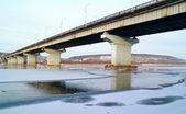 Kuzbasskiy Bridge in Kemerovo city — Stok fotoğraf