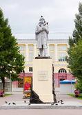 Monument to Mikhailo Volkov in Kemerovo city — Stock Photo