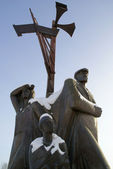 Monument to workers of home front in Kemerovo city — Stock Photo