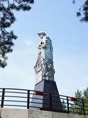 Monument to Kuzbass miners in Kemerovo city — Stock Photo