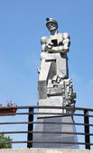 Monument to Kuzbass miners in Kemerovo city — Stock Photo