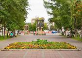 Vesennyaya street in Kemerovo city in summer — ストック写真