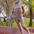 Monument to Martemyanov sport pilot in Kemerovo city — Stock Photo