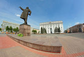 Central square in Kemerovo city — Stock Photo