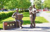 Monument à 18:00 après la guerre dans la ville de kemerovo — Photo