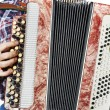 Man playing accordion — Stock Photo