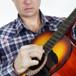 Gitarist playing guitar — Stock Photo #37493199
