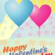 Stock Vector: Valentine day greeting card