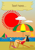 Summer holiday on the seaside — Stock Vector