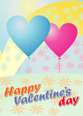 Valentine day greeting card — Stock Vector