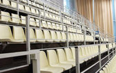 Row of seats for spectators at a stadium — Stock Photo