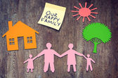 Our happy family. Conceptual image — Stock Photo