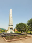 Monument to heroes of the Civil War in the town of Guryevsk, Kemerovskaya region, Siberia, Russia — Stock Photo