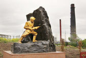 Monument to miners in the town of Leninsk-Kuzneckiy, Kemerovskaya region, Siberia, Russia — Stock Photo