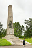 Monument to heroes of the Civil War in the town of Leninsk-Kuzneckiy, Kemerovskaya region, Siberia, Russia — Stock Photo