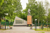 Monument to fallen soldiers in the town of Leninsk-Kuzneckiy, Kemerovskaya region, Siberia, Russia — Stock Photo