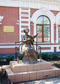 Monument to Russian Empress Maria in the town of Mariinsk, Kemerovskaya region, Siberia, Russia — Stock Photo