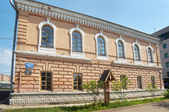 Old brick house built in the late 19th century in the town of Mariinsk, Kemerovskaya region, Siberia, Russia — Stock fotografie