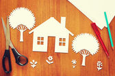 Concept of a happy home — Stock Photo