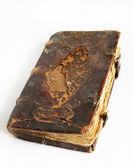 Staré opotřebované kniha s kožený obal — Stock fotografie