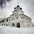 Orthodox chapel on the background of the dramatic cloudy sky — Stock Photo #4668708