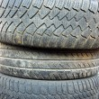 Stock Photo: Old used car tires