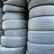 Old used car tires — Stock Photo