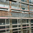Stock Photo: Scaffolding set during building renovation